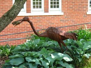 Sculpture animals at Buchanan Art Center
