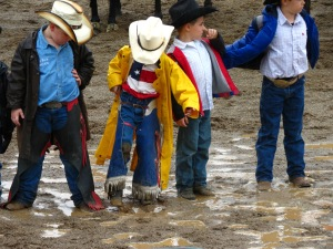 Young cowboys at opening ceremony