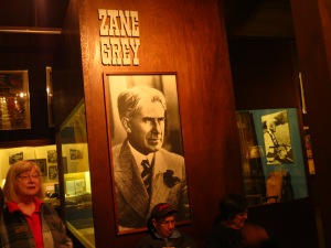 Zane Grey was probably manic depressive, writing Westerns furiously for days with a pencil, then using activity (fishing, hunting) to escape his black periods