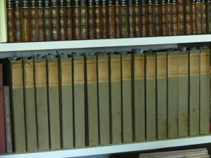 The papers marking pages in these books is how Carl kept track of important to him passages.