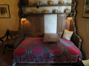 Bessie's bed where she prepared her radio sermons.