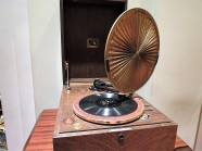 Old record player with sound system