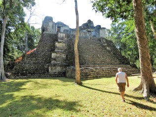 Building 6 – a pyramidal platform with a temple with two vaulted galleries at the top 600-900 AD).